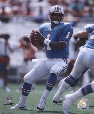 Warren Moon - Passing Action Poster by Unknown for $21.25 CAD