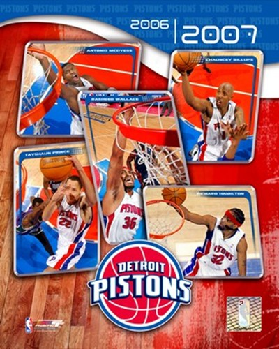'06 / '07 Pistons Team Composite Poster by Unknown for $20.00 CAD