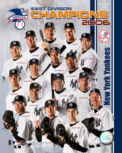 2006 - Yankees East Division Champs Team Composite Poster by Unknown for $21.25 CAD