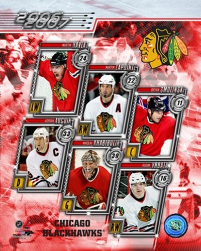 '06 / '07 -  Blackhawks Team Composite Poster by Unknown for $20.00 CAD
