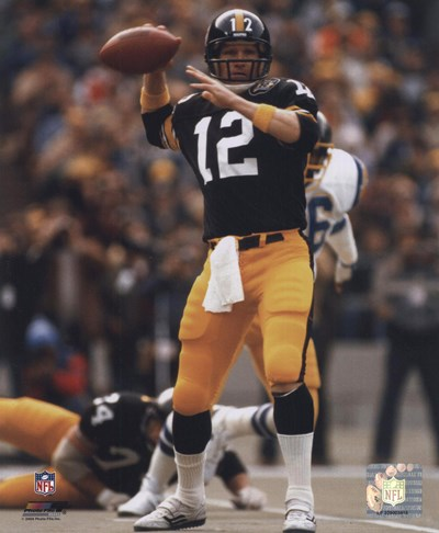 Terry Bradshaw Passing Action Poster by Unknown for $21.25 CAD