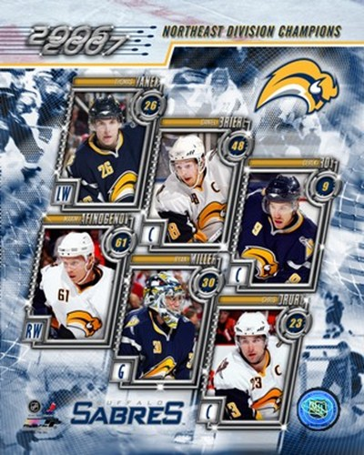 '06 / '07 Sabres Eastern Division Champions Composite Poster by Unknown for $20.00 CAD