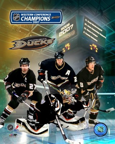 2007 - Ducks Western Conf. Champs /  Big 4 Poster by Unknown for $20.00 CAD