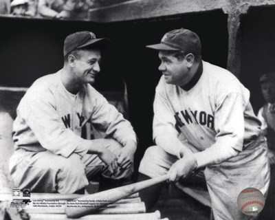 Lou Gehrig & Babe Ruth Posed Poster by Unknown for $21.25 CAD