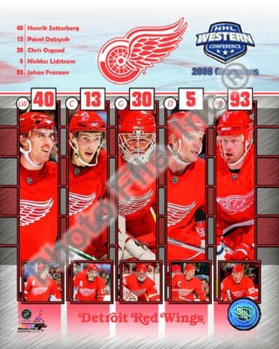 2008 Detroit Red Wings Western Conference Champions Composite Poster by Unknown for $20.00 CAD