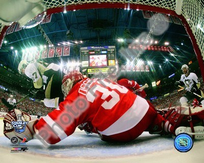 Chris Osgood Game 2 of the 2008 NHL Stanley Cup Finals Action; #7 Poster by Unknown for $21.25 CAD