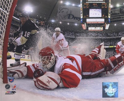Chris Osgood in Game 6 of the 2008 NHL Stanley Cup Finals; Action #25 Poster by Unknown for $21.25 CAD
