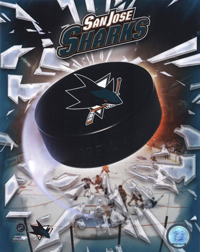 2008 San Jose Sharks Team Logo Poster by Unknown for $21.25 CAD