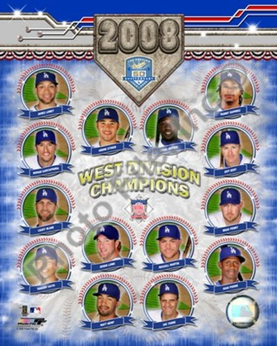 2008 Los Angeles Dodgers West Division Champs Composite Poster by Unknown for $20.00 CAD