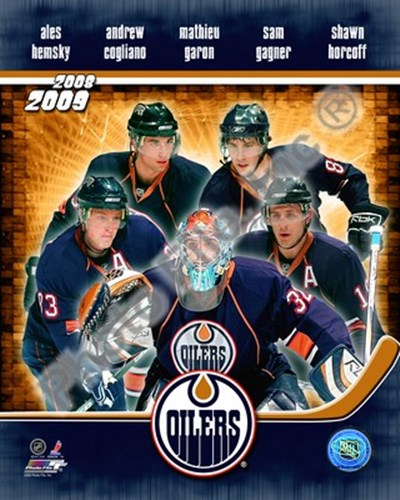 2008-09 Edmonton Oilers Team Composite Poster by Unknown for $21.25 CAD