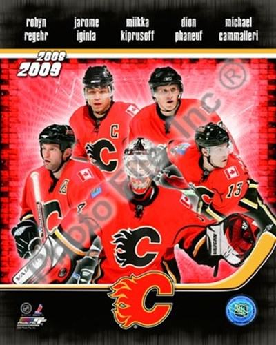 2008-09 Calgary Flames Team Composite Poster by Unknown for $21.25 CAD