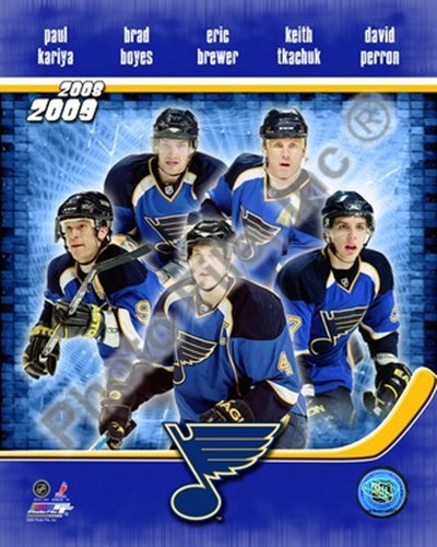 2008-09 St. Louis Blues Team Composite Poster by Unknown for $20.00 CAD