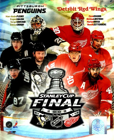'09 St. Cup Match Up - Pens / Red Wings Poster by Unknown for $20.00 CAD