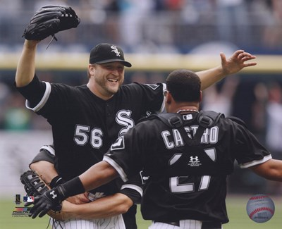 Mark Buehrle '09 Perfect Game celebration w/ Castro Poster by Unknown for $21.25 CAD