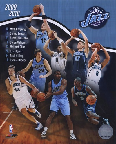 2009-10 Utah Jazz Team Composite Poster by Unknown for $20.00 CAD