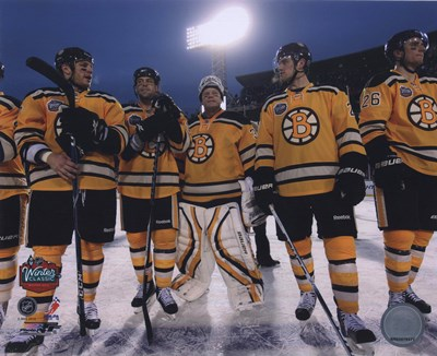 The Boston Bruins Post-Game Lineup 2010 NHL Winter Classic Poster by Unknown for $21.25 CAD
