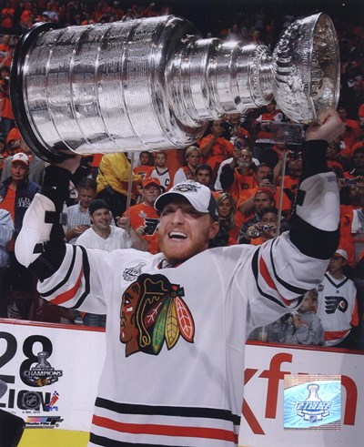 Marian Hossa with the 2009-10 Stanley Cup (#30) Poster by Unknown for $21.25 CAD
