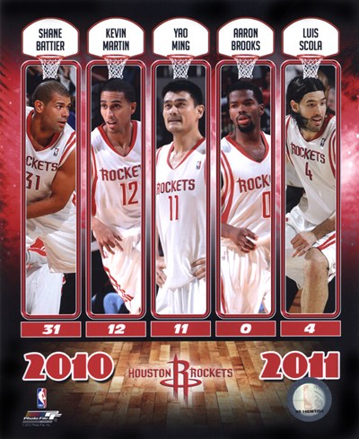 2010-11 Houston Rockets Team Composite Poster by Unknown for $20.00 CAD