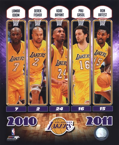 2010-11 Los Angeles Lakers Team Composite Poster by Unknown for $20.00 CAD
