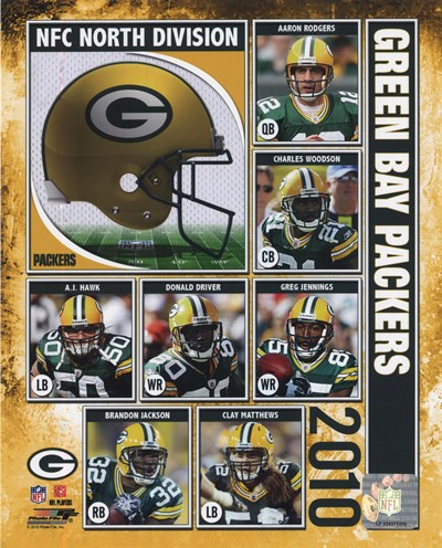 2010 Green Bay Packers Team Composite Poster by Unknown for $20.00 CAD
