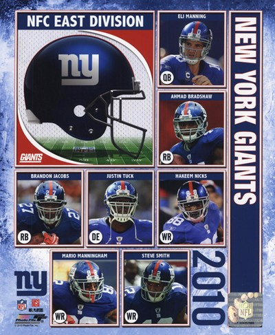 2010 New York Giants Team Composite Poster by Unknown for $20.00 CAD