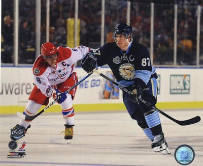 Alex Ovechkin & Sidney Crosby 2011 NHL Winter Classic Action Poster by Unknown for $21.25 CAD