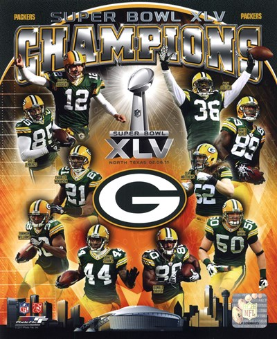 Green Bay Packers Super Bowl XLV Champions Composite (Vertical) Poster by Unknown for $21.25 CAD