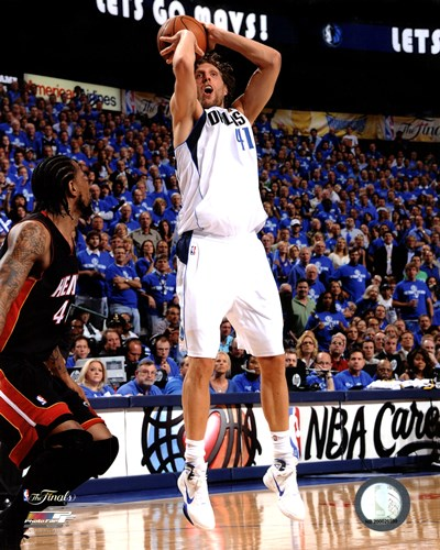 Dirk Nowitzki Game 5 of the 2011 NBA Finals Action(#22) Poster by Unknown for $21.25 CAD