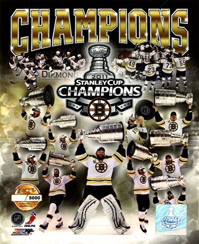 Boston Bruins 2011 NHL Stanley Cup Finals Champions Limited Edition PF Gold (5000 8x10's, 500 each enlargement size) Poster by Unknown for $21.25 CAD