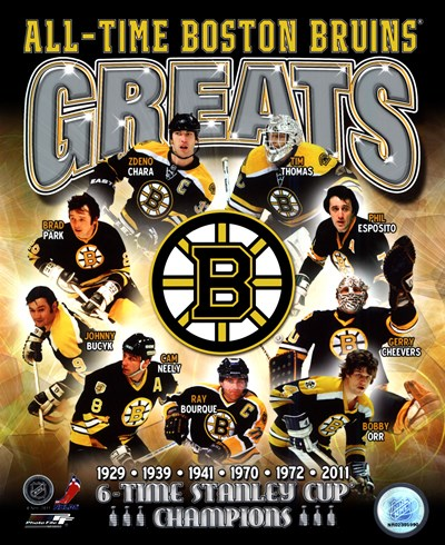 Boston Bruins All-Time Greats Composite Poster by Unknown for $21.25 CAD