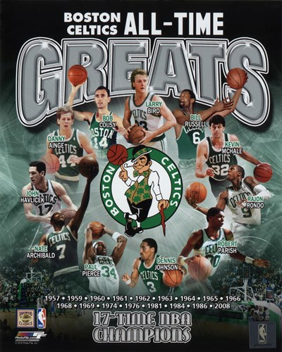 Boston Celtics All Time Greats Composite Poster by Unknown for $21.25 CAD