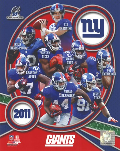 New York Giants 2011 NFC Champions Team Composite Poster by Unknown for $21.25 CAD
