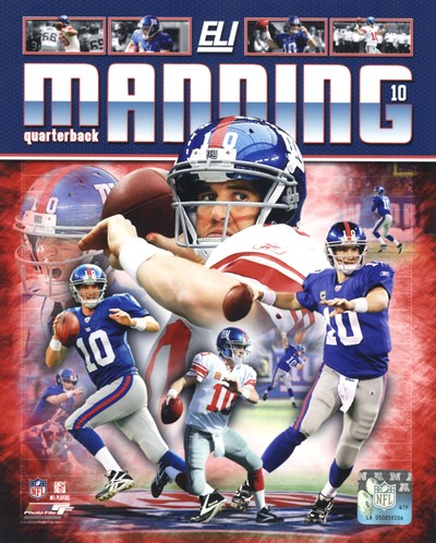 Eli Manning 2012 Portrait Plus Poster by Unknown for $21.25 CAD