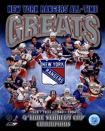 New York Rangers All-Time Greats Composite Poster by Unknown for $21.25 CAD