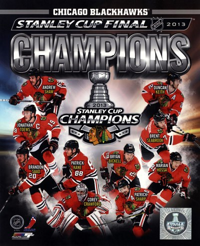 Chicago Blackhawks 2013 NHL Stanley Cup Champions Composite Poster by Unknown for $21.25 CAD