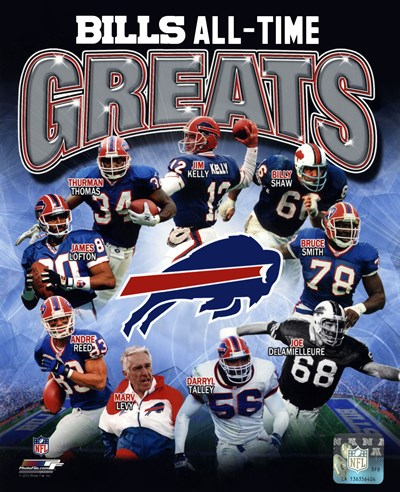 Buffalo Bills All Time Greats Composite Poster by Unknown for $21.25 CAD
