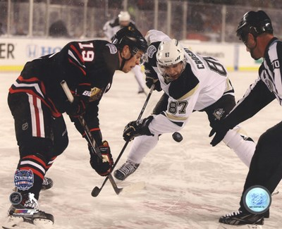 Jonathan Toews & Sidney Crosby 2014 NHL Stadium Series Action Poster by Unknown for $21.25 CAD