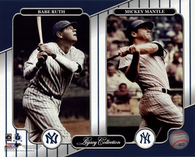 NY Yankees Legacy Collection #3 Babe Ruth & Mickey Mantle Poster by Unknown for $21.25 CAD