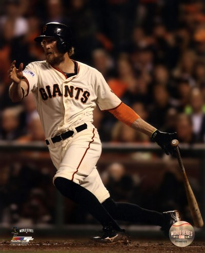Hunter Pence Game 4 of the 2014 World Series Action Poster by Unknown for $13.75 CAD