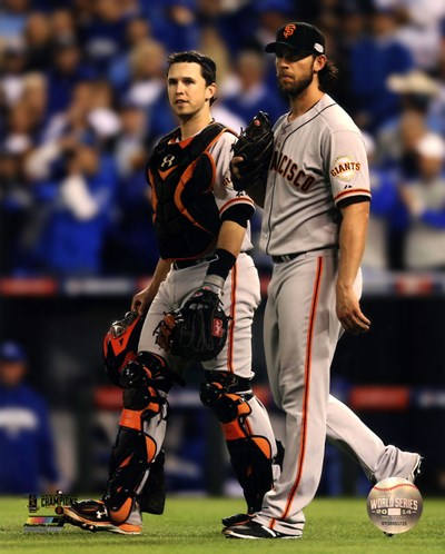 Buster Posey & Madison Bumgarner Game 7 of the 2014 World Series Poster by Unknown for $13.75 CAD