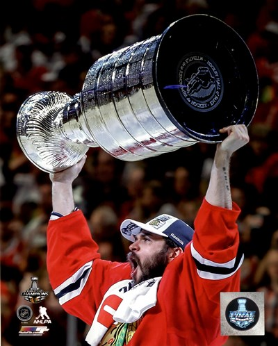 Brent Seabrook with the Stanley Cup Game 6 of the 2015 Stanley Cup Finals Poster by Unknown for $13.75 CAD