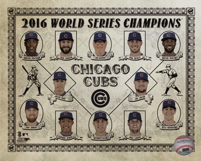 Chicago Cubs 2016 World Series Champions Vintage Composite Poster by Unknown for $13.75 CAD
