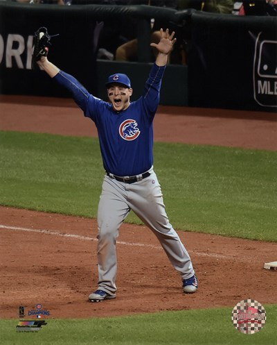Anthony Rizzo celebrates the final out of Game 7 of the 2016 World Series Poster by Unknown for $13.75 CAD