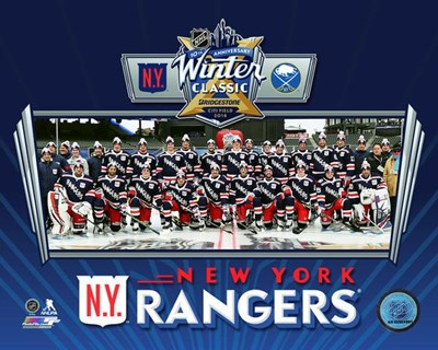 New York Rangers Team Photo 2018 NHL Winter Classic Poster by Unknown for $13.75 CAD