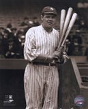 Babe Ruth - with 3 bats