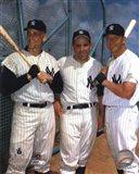 Roger Maris, Yogi Berra, and Mickey Mantle