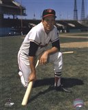 Brooks Robinson - Posed kneeling with bat