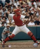 Carlton Fisk - Throwing in catchers gear