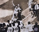 Bill Mazeroski - 1960 World Series Winning Home Run, sepia