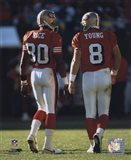 Steve Young / Jerry Rice backs to camera